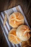 Several kaiser rolls. Stock Photography