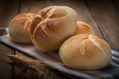Several kaiser rolls. Royalty Free Stock Photo
