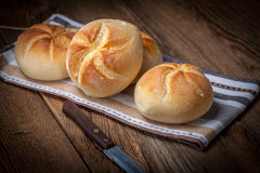 Several kaiser rolls. Royalty Free Stock Photography