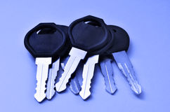 Several Keys in a Pile Royalty Free Stock Photo
