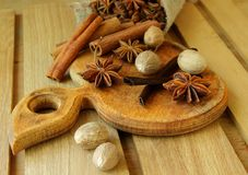 Several kinds of spices Stock Photo