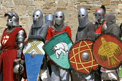 Several knights Royalty Free Stock Photo