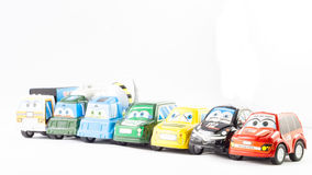 Several law enforcement small cars Royalty Free Stock Photo