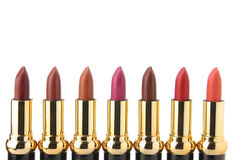 Several lipsticks for make up royalty free stock photos