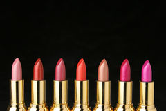 Several lipsticks for make up Stock Photo