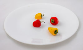 Several little peppers Stock Photo