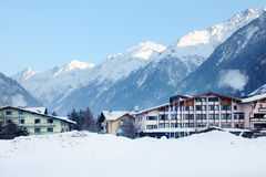 Several luxury hotels in mountains Royalty Free Stock Photography