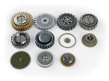 Several machine gears Royalty Free Stock Images