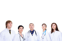 Several medical doctors in hospital Royalty Free Stock Photo