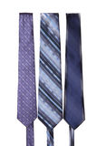 Several men's ties on a white background. Several men silk tie on a white background Stock Photos