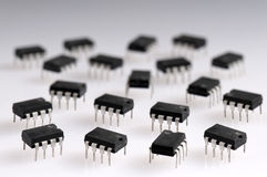 Several microchips Stock Photography