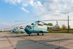 Several Mil Mi-14 helicopters Royalty Free Stock Photography