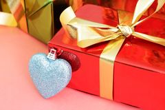 Several multi-colored gift boxes Stock Photography