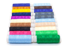 Several Multicolor Spools of Thread Royalty Free Stock Images