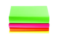 Several multicolored bright books  on white background Royalty Free Stock Images