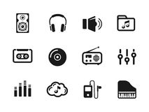 Several music themed icons Royalty Free Stock Photos