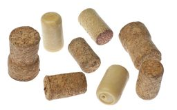 Several old corks of bottles of wine. Stock Photography