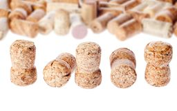 Several old corks of bottles of wine Stock Photography