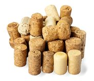 Several old corks of bottles of wine Royalty Free Stock Photography