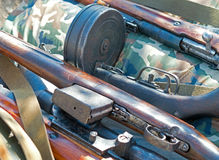 Several old rifle Royalty Free Stock Image