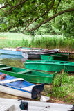 Several old rowing boats Royalty Free Stock Photo
