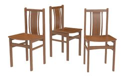 Several old style chairs on the white background. stock illustration