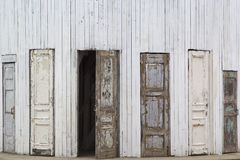 Several old wooden doors Stock Image