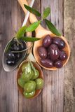 Several olives Stock Image