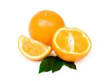 Several oranges. On white background stock photos