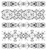 Several ornamental borders Stock Photos