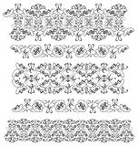 Several ornamental borders Stock Image