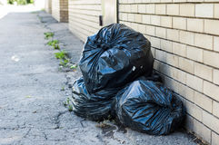 Several packages of garbage Royalty Free Stock Image