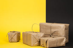 Several packages wrapped with paper Royalty Free Stock Image