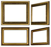 Several painted wooden frames to hang pictures on. Several painted wooden frames with profile to hang pictures on stock illustration