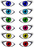 Several Pairs Of Eyes Royalty Free Stock Photography