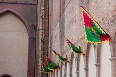 Several palio banners Royalty Free Stock Images