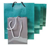 Several paper shopping bags Royalty Free Stock Photo