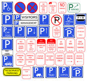 Several parking signs Royalty Free Stock Image
