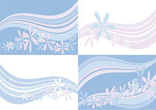Several pastel backgrounds Royalty Free Stock Photography