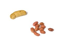 Several peanuts 1 Royalty Free Stock Image