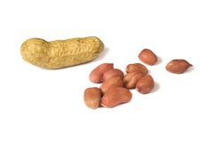 Several peanuts 2 Royalty Free Stock Photography