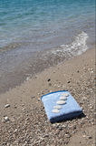 Several pebbles on the nice towel. Stock Photography