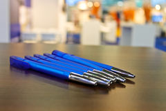 Several pens on the table Stock Photo