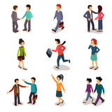 Several People Isometric, Vector. Several people Isometric 3d, Vector illustration set Royalty Free Stock Photo