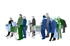 Several people shopping Royalty Free Stock Images