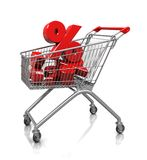 Several percent in cart Stock Photography