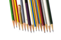 Several piece of used pencil Royalty Free Stock Image