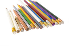 Several piece of used pencil Stock Image