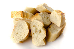 Several pieces of baguette Royalty Free Stock Image
