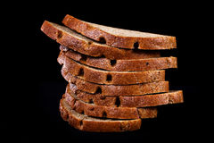 Several pieces of bread Stock Images